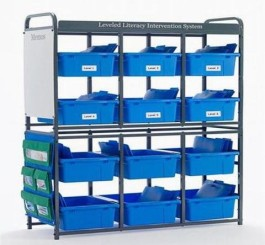Storage Room Organizer for Leveled Literacy Program