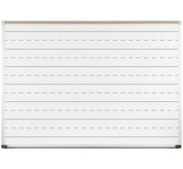 Porcelain Steel Whiteboard with Deluxe Aluminum Trim -Penmanship Lines