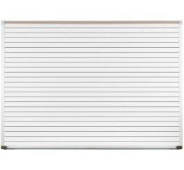 Porcelain Steel Whiteboard with Deluxe Aluminum Trim -Horizontal Lines
