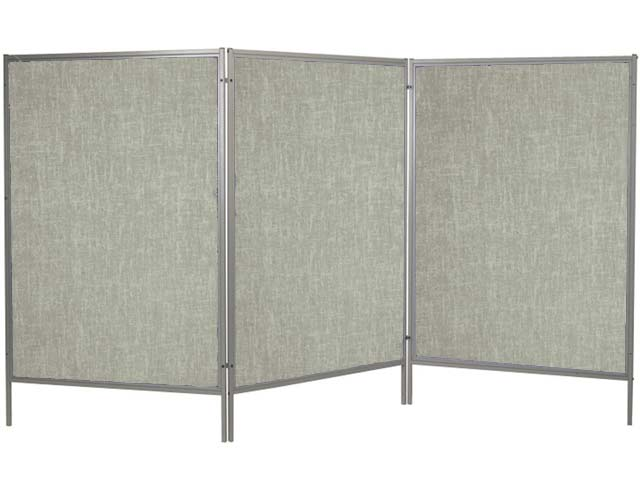 Mobile Floor Display Panels-Set of 3 Panels / Gray Vinyl