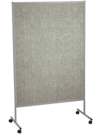 Mobile Floor Display Panels-Single Panel / Gray Vinyl