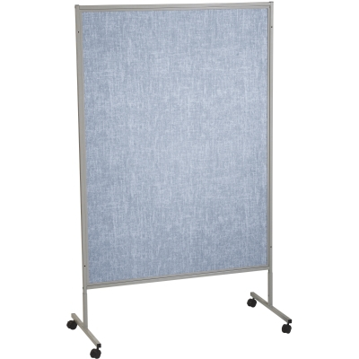 Mobile Floor Display Panels-Single Panel / Pacific Blue Vinyl