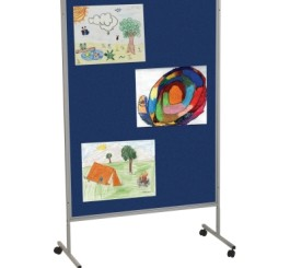 Mobile Floor Display Panels-Single Panel / Royal Hook & Loop