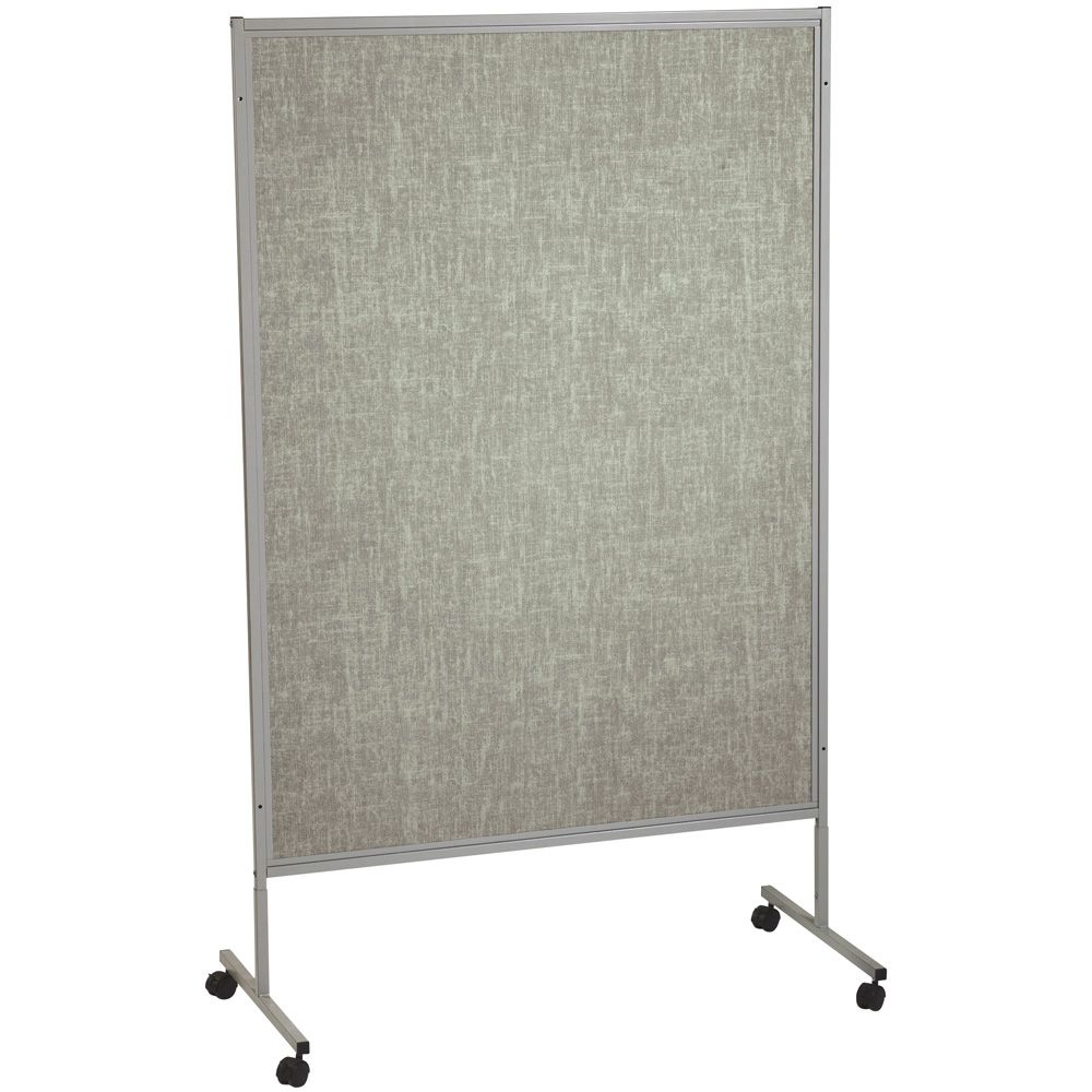 Mobile Floor Display Panels Single Panel Silver Hook
