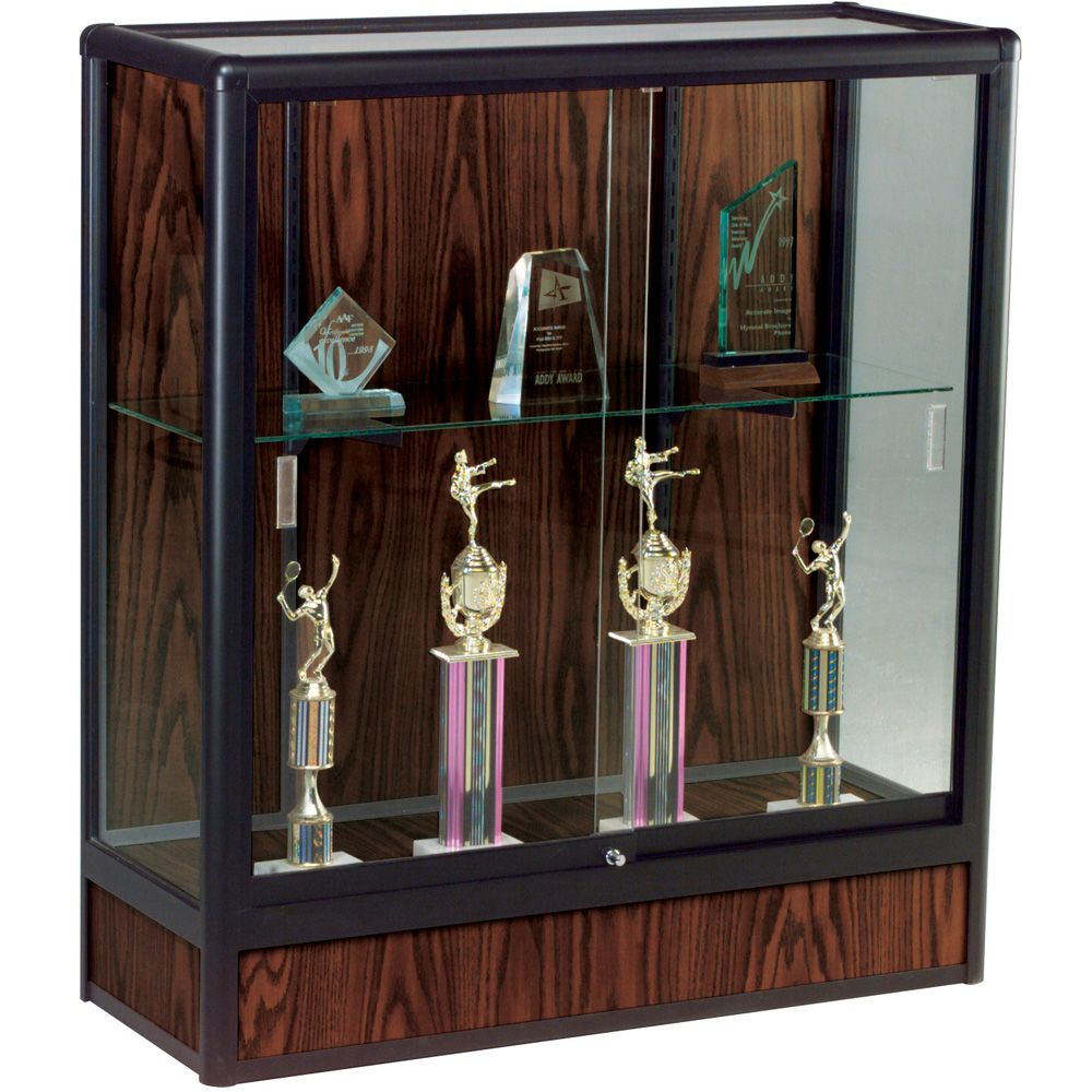 Counter Height Display Case - Closed Base