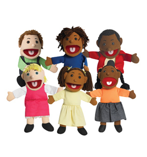 Ethnic Children Puppets-Set of All 6