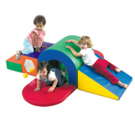 Playring With Tunnel & Slide