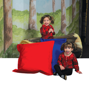 Indoor/Outdoor Pillows - Set of 2 - Red & Blue