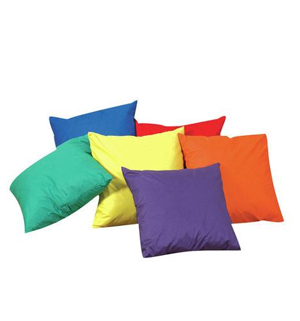 "12"" Mini Throw Pillows - Set of 6 w/polyfilled"