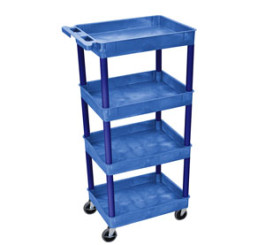4 Shelf SMALL Blue Tub Cart