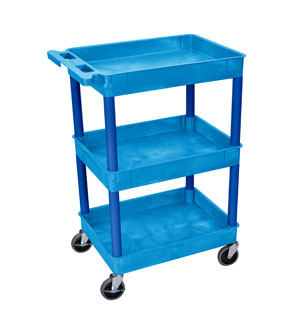 3 Shelf Blue Tub Cart