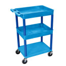 3 Shelf Blue Tub Cart 2