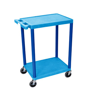 Blue 2 Shelf Cart w/ Blue Legs