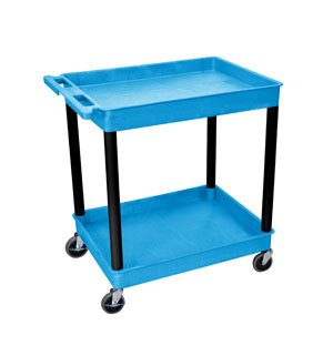 2 Shelf Blue Deep Tub Cart