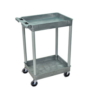 2 Shelf Blue Tub Cart  4