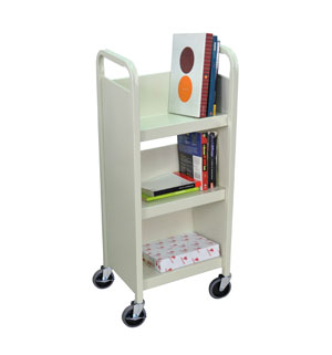 Book Truck Putty 3 sIngle sides shelves