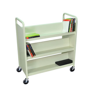 Book Truck Putty 6 sIngle sides shelves