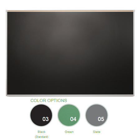 "Chalkboard with 1"" Map Rail, 4'H x 16'W"