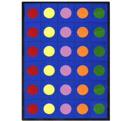 Lots of Dots Rectangle Area Rug