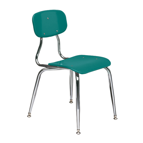 11-1/2″  3/8″ solid plastic 4-leg chair 8