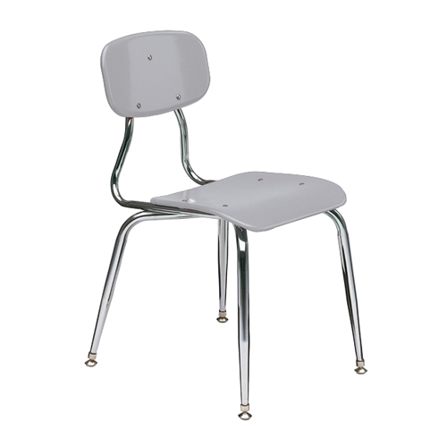 11-1/2″  3/8″ solid plastic 4-leg chair 7