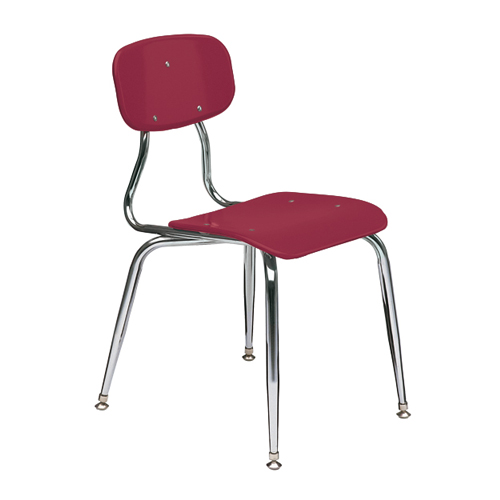 11-1/2″  3/8″ solid plastic 4-leg chair 6