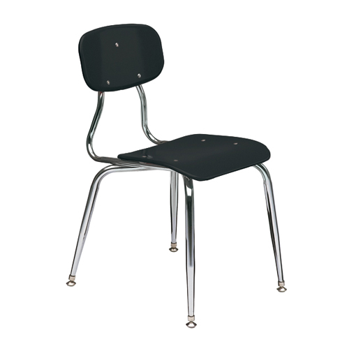11-1/2″  3/8″ solid plastic 4-leg chair 3