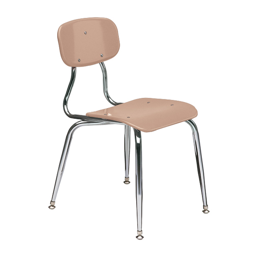 11-1/2″  3/8″ solid plastic 4-leg chair 2