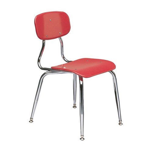 "11-1/2""  3/8"" solid plastic 4-leg chair"