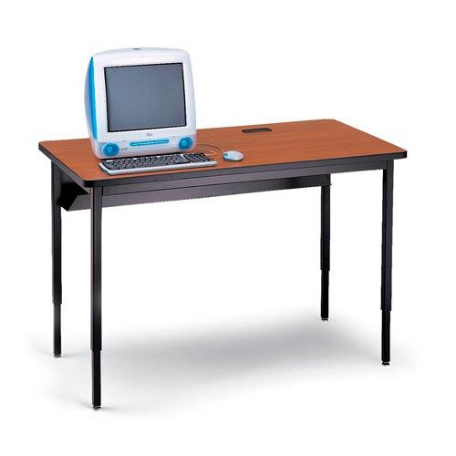Rectangle Basic Computer Table with Glides 5