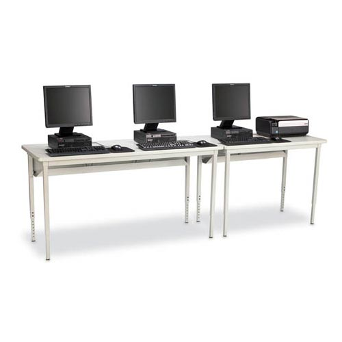 Rectangle Basic Computer Table with Glides