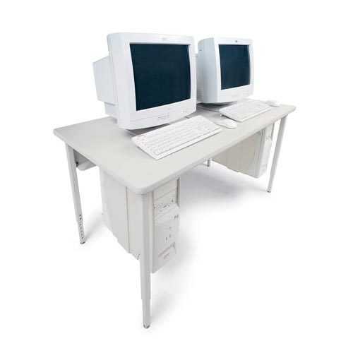 Rectangle Basic Computer Table with Glides 2