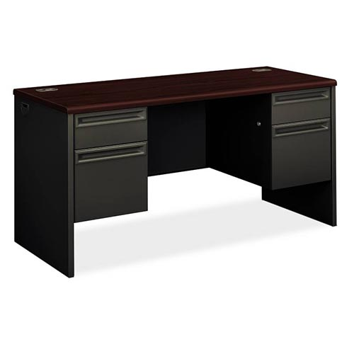 38000 Series Double Pedestal Credenza with Kneespace - 2 Box / 2 File Drawers