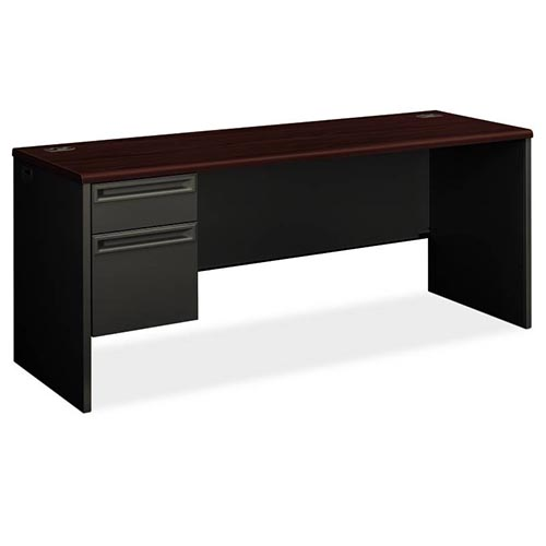 38000 Series Left Pedestal Credenza - 1 Box / 1 File Drawer