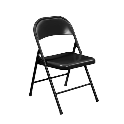 All-Steel Commercialine Folding Chair - Black
