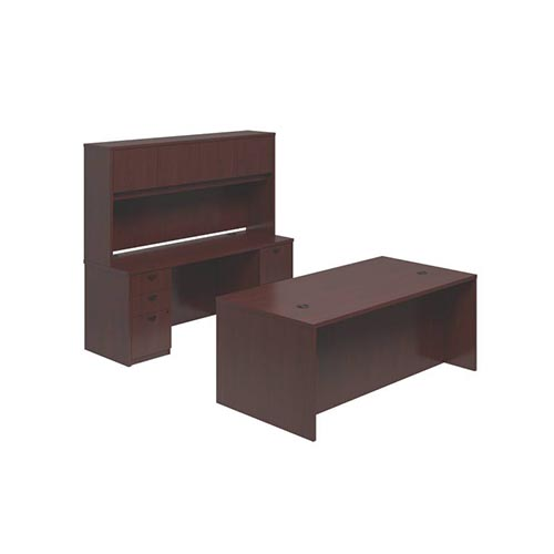 BL Series Executive Workstation - Desk, Credenza, Hutch