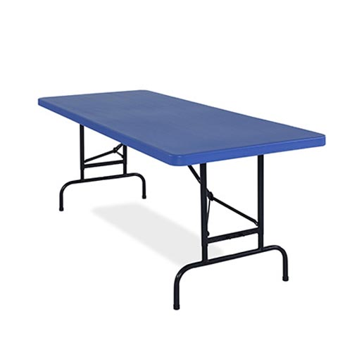 "Adjustable Height Folding Table Blue - 30"" x 72"" x 1 3/4"""