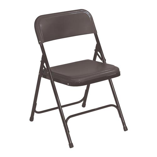 Premium Plastic Folding Chair - Black