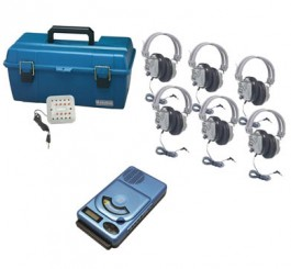 6 Person CD/MP3 Listening Center with Deluxe Headphones