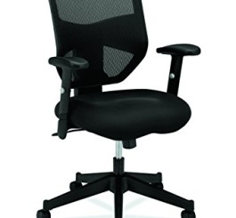 basyx by HON High Back Work Chair - Mesh Computer Chair for Office Desk, Black (HVL531)