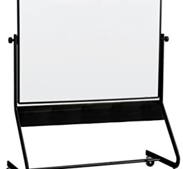 Best-Rite Euro Reversible Mobile Whiteboard, Dura-Rite Markerboard Both Sides, Panel Size 4 x 6 Feet (667RG-HH)