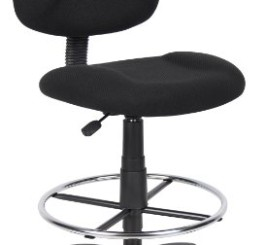 Boss Office Products B1615-BK Ergonomic Works Drafting Chair without Arms in Black