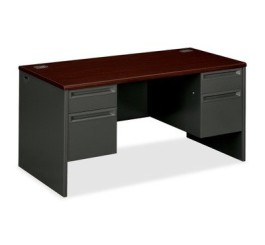 HON 38000 Series Double Pedestal Desk 38155NS