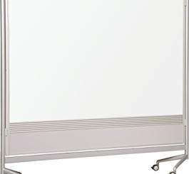 Best-Rite DOC Mobile Whitebooard Room Partition and Display Panel, Double Sided Porcelain Steel Markerboard, 6 x 4 Feet (661AD-DD)