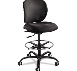 Safco Products 3394BL Vue Heavy Duty Stool (Optional arms sold separately), Black