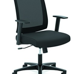 HON HVL511 Mid-Back Task Chair, Black Mesh Fabric