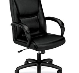 basyx by HON HVL161 Executive Mid-Back Chair, Black