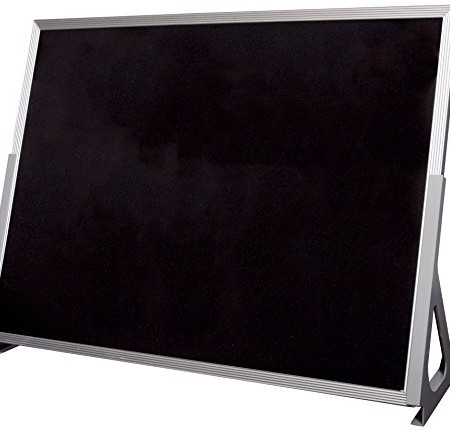 "Best-Rite Flannel Tabletop Easel, Black, 18""H x 24""W, 721GA"