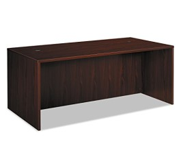Basyx BL2101NN BL Laminate Series 72 by 36 by 29-Inch Rectangular Desk Shell, Mahogany