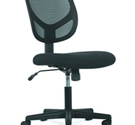 basyx by HON Swivel Mid Back Mesh Task Chair with Arms - Ergonomic Computer/Office Chair (HVST101)